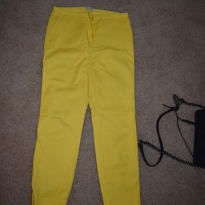Yellow chino pants